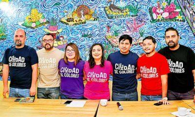 Rueda de prensa del colectivo Ciudad de Colores