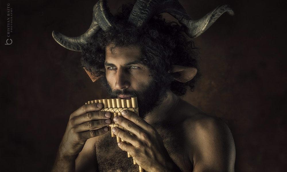 Flauta de Pan del Dios Griego Pan