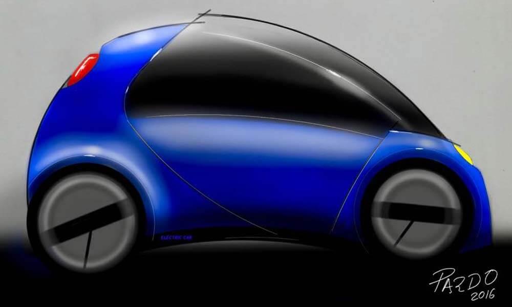 Diseño de auto por Carlos Pardo