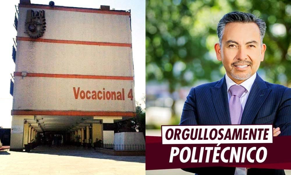 Vocacional 4 del Politécnico Nacional, primer lugar de estudios de Israel Reyes Gómez