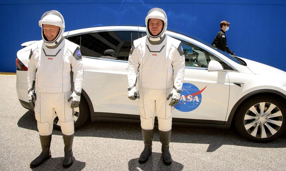 Astronautas de la NASA y SpaceX
