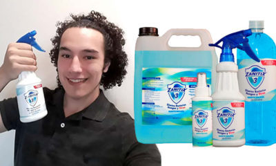 David Hernández, Estudiante Mexicano Crea Zanitix3: Sanitizante que Dura 8 Horas