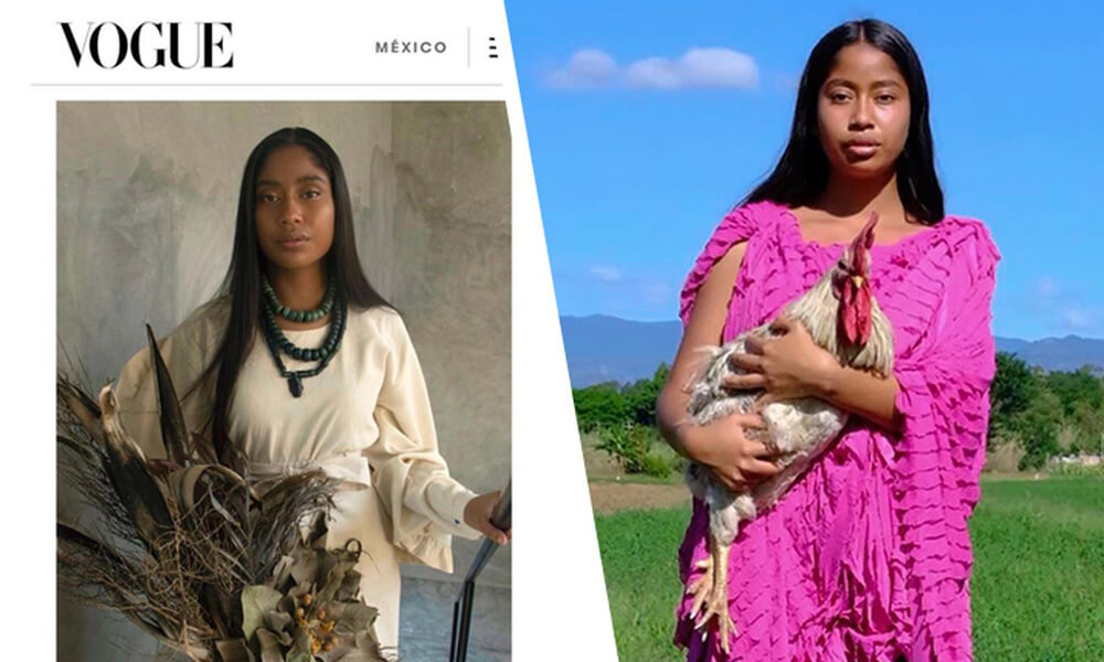 Karen Vega: La Primer Modelo Oaxaqueña en Ser Portada de Vogue